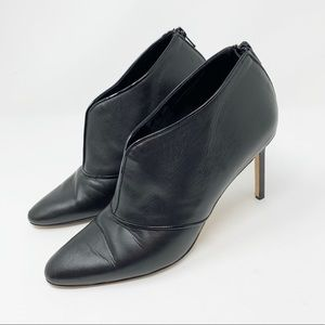 Manolo Blahnik | Black Leather Ankle Booties Chic